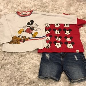 Other - Mickey and Jean Shorts Set, 2T and 18-24